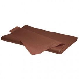 lot feuilles de soie papier mousseline marron chocolat