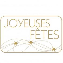 """lot 50 ou 100 etiquettes """"joyeuses fêtes"""""""
