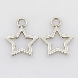 Lot de 10 breloques pendentifs étoile