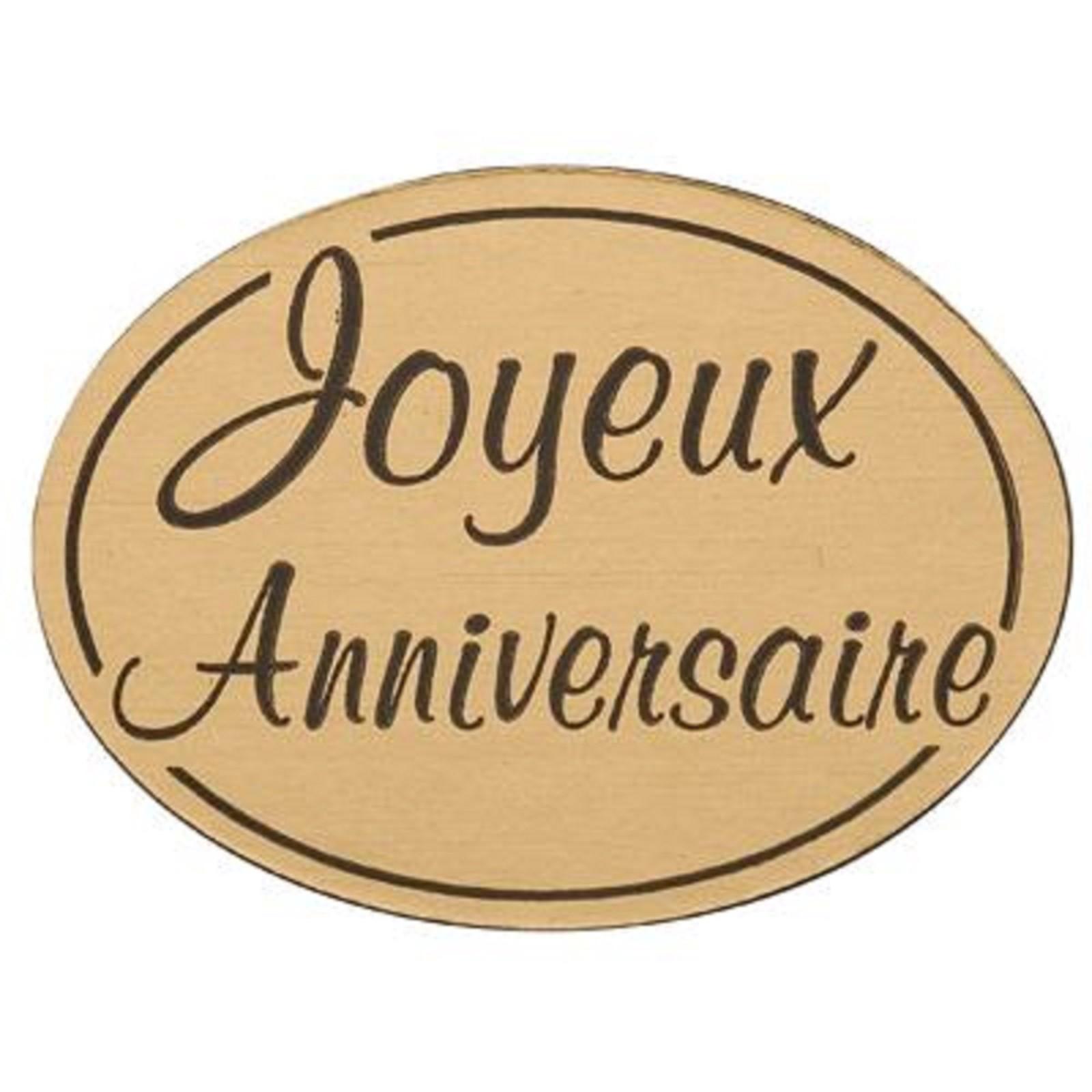Etiquette Stickers Joyeux Anniversaire
