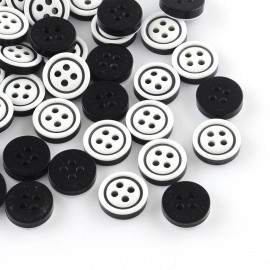 lot 20 boutons 11 mm 4 trous