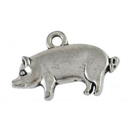 Lot de 10 breloques pendentifs cochon