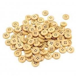 lot 50 boutons en bois 13 mm