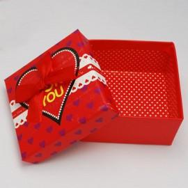 1 boite bijoux écrins rouge