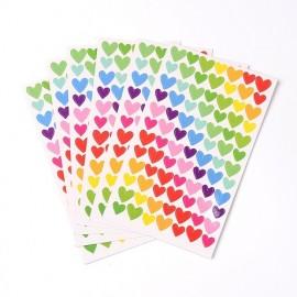 Lot de 250 gommettes étiquettes autocollantes coeur