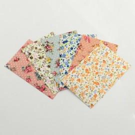 Lot de 12 coupons tissu adhesif liberty 10 x 6.5 cm