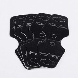 Lot de 50 supports carton collier noir