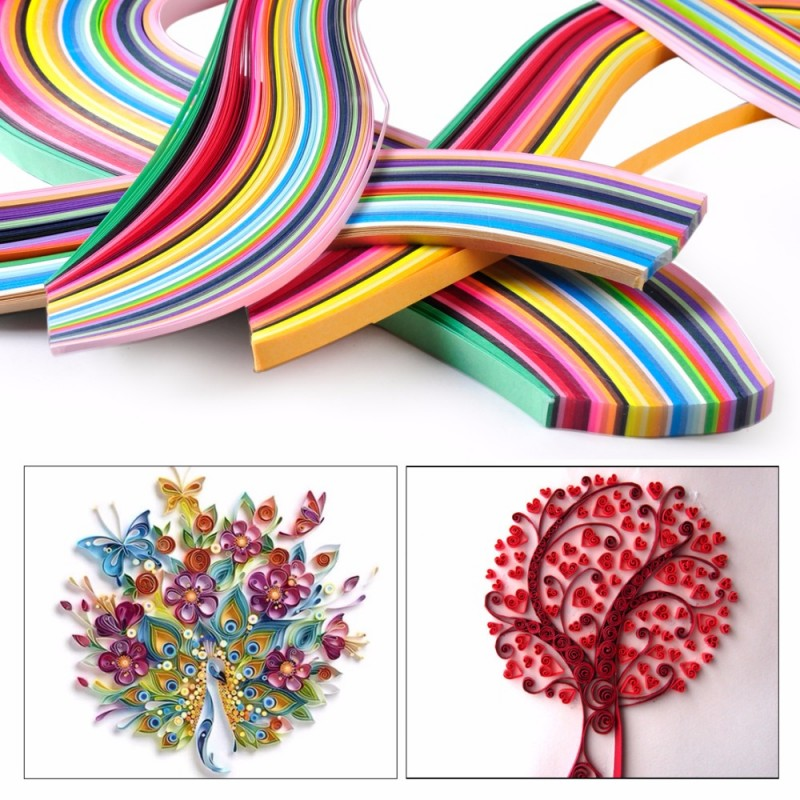120 bandes papier quilling 5mmx52cm couleurs aux choix loisir creatif scrap diy