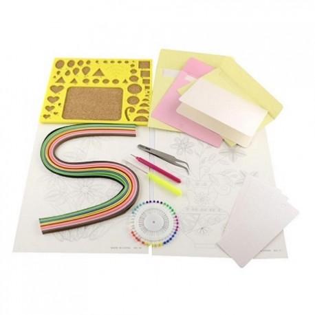 Kit 8 Pieces Pour Quilling Paperolles Avec Bandes De Papier Gabarit