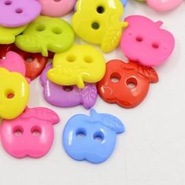 lot 10 boutons 20 mm pommes 4 trous