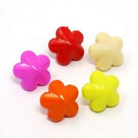 lot 20 boutons fleur bombée shank 15 mm