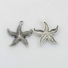 Lot de 10 breloques pendentifs étoile de mer