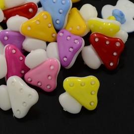 lot 20 boutons 15 mm champignon