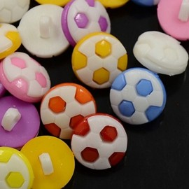 lot 20 boutons 16 mm ballon de foot