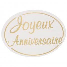 """lot 50 ou 100 etiquettes """"joyeux anniversaire """""""