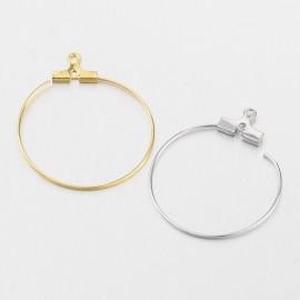 lot de 10 créoles 28 mm supports crochets apprets bijoux boucles d'oreilles