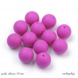 lot de 10 perles en silicone enfant attache tétine rose