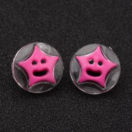 lot 20 boutons étoile 14 mm shank