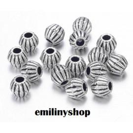 lot 50 perles entretoise intercalaire liserais gris argent apprêt bijoux 4.5 mm