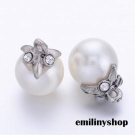 1 perle imitation culture 17 mm blanc apprêt bijoux NEUF