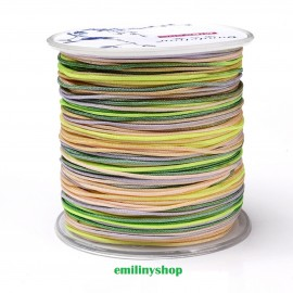 cordon nylon multicolore vert