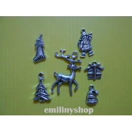 Lot de 6 breloques pendentifs thème outil bricolage