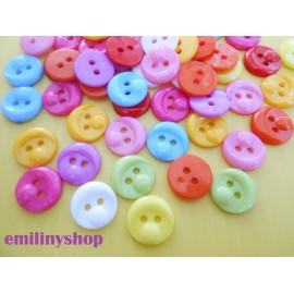 lot 50 boutons visage 12 mm