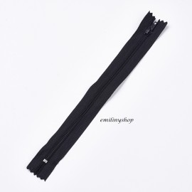 Fermeture éclair glissière non séparable 22 cm Noir neuf
