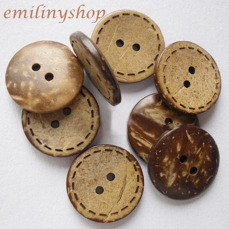 lot 20 boutons en bois 20 mm