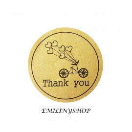 lot 48 étiquettes stickers merci thank you kraft