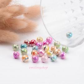 lot de 20 perles rondes nacrées effet reflet 8 mm