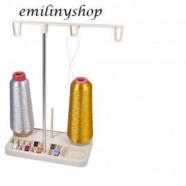 support 3 bobines et canette fil de machine à coudre canettes neuf