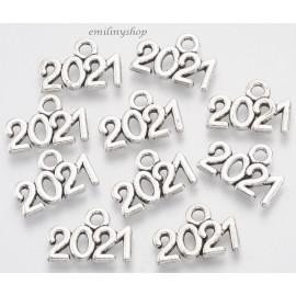 Lot de 10 breloques pendentifs date 2021