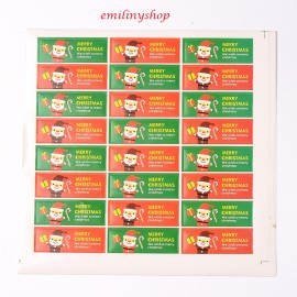 "lot 48 etiquettes ""merry christmas """