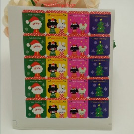 "lot 40 etiquettes ""merry christmas """