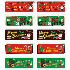 "lot 50 etiquettes ""merry christmas """