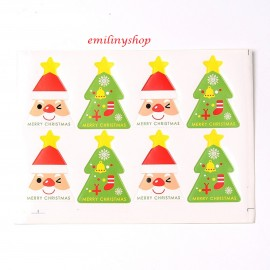 "lot 40 etiquettes ""merry christmas "" noel"