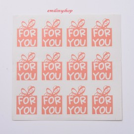 "lot 48 etiquettes ""for you """
