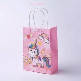 1 sac cadeau carton sachet fantaisie licorne