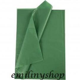 lot feuilles de soie papier mousseline vert bouteille
