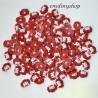 lot 20 boutons visage fille rouge shank 22 mm