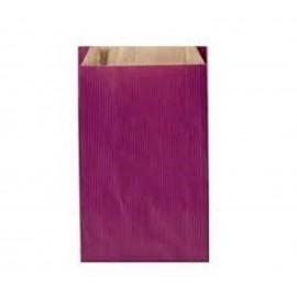 Pochettes cadeau papier kraft violet