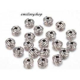 lot 50 perles entretoise intercalaire gris argent apprêt bijoux 6 mm