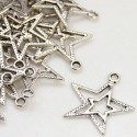 lot de 10 breloques charm pendentif perle scrapbooking etoile ciel NEUF