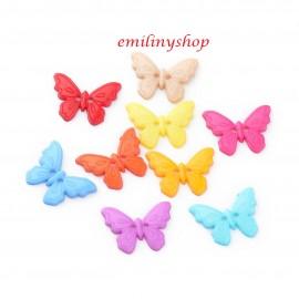 lot 20 boutons 22 mm papillon 2 trous