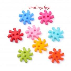 lot 20 boutons soleil multicolore 18 mm 2 trous