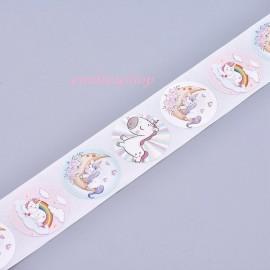 lot 50 étiquettes stickers licorne fille fleur