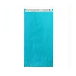 Pochettes cadeau papier kraft bleu turquoise