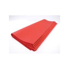 lot feuilles de soie papier mousseline rouge