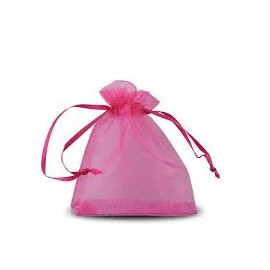 LOT 10 POCHETTE ORGANZA ROSE FUSHIA